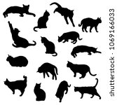 set vector silhouettes of the... | Shutterstock .eps vector #1069166033