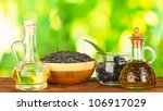 olive and sunflower oil in the... | Shutterstock . vector #106917029
