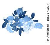 watercolor floral arrangement.... | Shutterstock . vector #1069171034