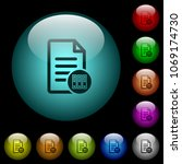 archive document icons in color ...