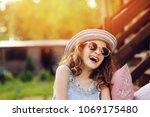 summer portrait of happy kid... | Shutterstock . vector #1069175480