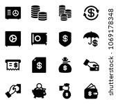 solid vector icon set   safe...   Shutterstock .eps vector #1069178348
