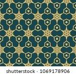 modern geometric pattern.... | Shutterstock .eps vector #1069178906