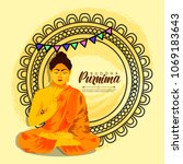 illustration of buddha purnima... | Shutterstock .eps vector #1069183643