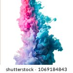 ink drop in water isolated on... | Shutterstock . vector #1069184843
