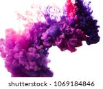 ink drop in water isolated on...   Shutterstock . vector #1069184846