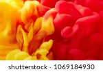 color drop in water. abstract... | Shutterstock . vector #1069184930