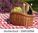 summer picnic with wine ... | Shutterstock . vector #106918586