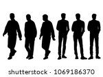 vector silhouettes of men ... | Shutterstock .eps vector #1069186370