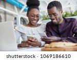 smiling african american... | Shutterstock . vector #1069186610