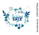 summer sale design layout for... | Shutterstock .eps vector #1069187066