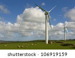 Wind Turbines With Sheep. These ...
