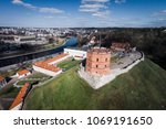 aerial view of gediminas tower... | Shutterstock . vector #1069191650