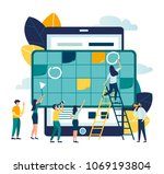 vector illustration. little... | Shutterstock .eps vector #1069193804