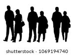 vector silhouettes of  people   ... | Shutterstock .eps vector #1069194740