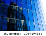 exterior reflection of houses... | Shutterstock . vector #1069194866