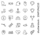 thin line icon set  ... | Shutterstock .eps vector #1069196210