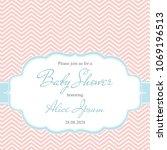 elegant baby shower invitation... | Shutterstock .eps vector #1069196513