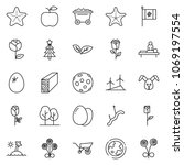 Thin Line Icon Set  ...