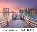 view of downtown district and...   Shutterstock . vector #1069198916