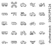 thin line icon set   home... | Shutterstock .eps vector #1069199126