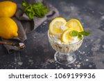 lemon dessert  lemon trifle ... | Shutterstock . vector #1069199936