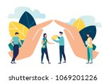 vector illustration of hand... | Shutterstock .eps vector #1069201226