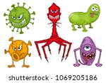 Set Of Different Medical Virus...