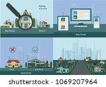 realtor agencyi llustration set.... | Shutterstock .eps vector #1069207964