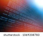 source code programming concept ... | Shutterstock . vector #1069208783