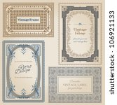 vintage frames and design... | Shutterstock .eps vector #106921133