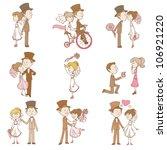 wedding doodles   design... | Shutterstock .eps vector #106921220