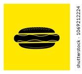 hot dog icon vector | Shutterstock .eps vector #1069212224
