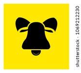 hand bell icon vector | Shutterstock .eps vector #1069212230