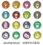 drinks web icons in the form of ... | Shutterstock .eps vector #1069212833