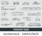 transportation icons set. city... | Shutterstock .eps vector #1069215623