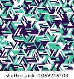 abstract geometric pattern. a... | Shutterstock .eps vector #1069216103