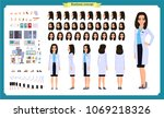 scientist character creation... | Shutterstock .eps vector #1069218326