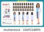 female doctor character... | Shutterstock .eps vector #1069218890