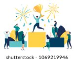 vector illustration. people... | Shutterstock .eps vector #1069219946