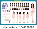 young woman  casual clothes.... | Shutterstock .eps vector #1069220780