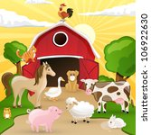 Vector Illustration Of Farm...