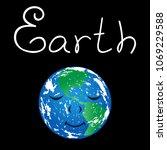 anthropomorphic planet earth... | Shutterstock .eps vector #1069229588