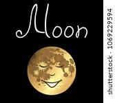 anthropomorphic satellite moon... | Shutterstock .eps vector #1069229594