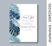 wedding invitation template... | Shutterstock .eps vector #1069231310