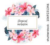 summer tropical background... | Shutterstock .eps vector #1069231346