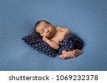 sleeping newborn baby   Shutterstock . vector #1069232378