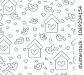 cute seamless pattern with...   Shutterstock .eps vector #1069234154