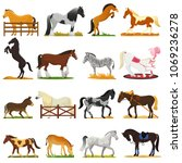cartoon horse vector cute... | Shutterstock .eps vector #1069236278