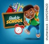 kid black illustration | Shutterstock .eps vector #1069239620